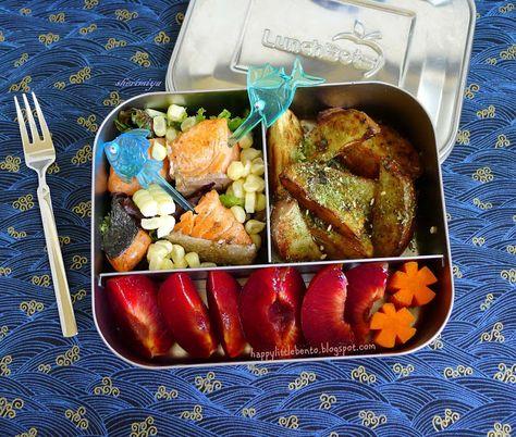Happy Little Bento: Salmon Salad LunchBots Bento
