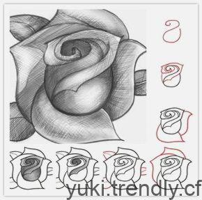 Comment Dessiner Une Rose Etape Par Etape Instructions Du Tutoriel De Bricolage Craft Tutorials Diy Craft Tutorials Diy Crafts