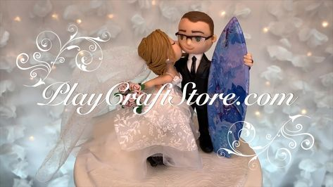 Wedding Gifts, Wedding Cakes, Custom Wedding Cake Toppers, Surfs Up, Anniversary Gifts, Birthday Gifts, Bridal Shower, Gifts For Her, Dream Wedding