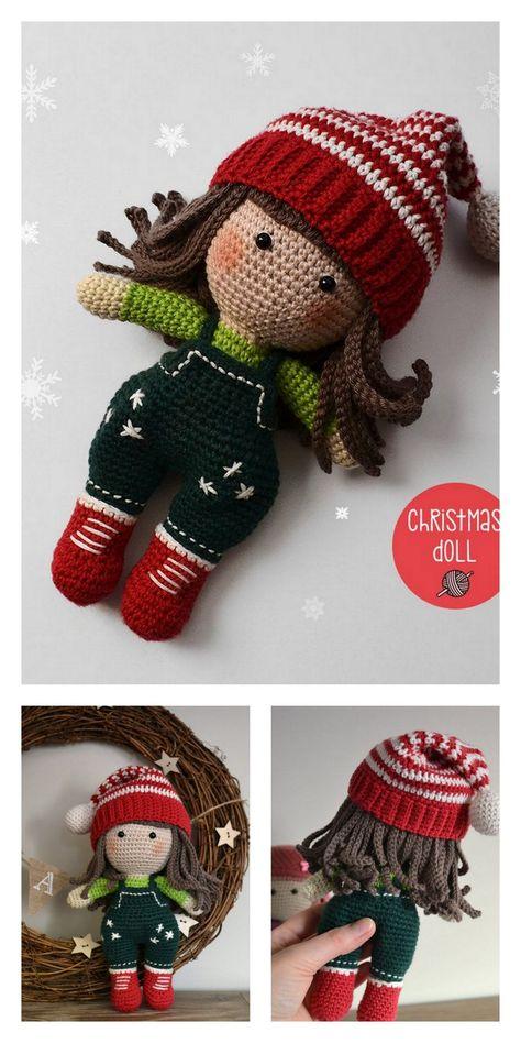 Knitting Dolls Free Patterns, Knitted Dolls Free, Doll Amigurumi Free Pattern, Crochet Blanket Patterns, Amigurumi Doll, Christmas Crochet Patterns, Holiday Crochet, Crochet Doll Tutorial, Pattern Cute