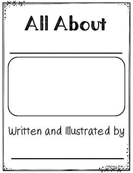 All About Books Informational Writing Template Informational