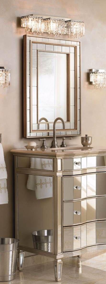 50 Ideas Bathroom Lighting Crystal Sinks Bathroom Vanity Designs Glamorous Bathroom Decor Bathroom Decor