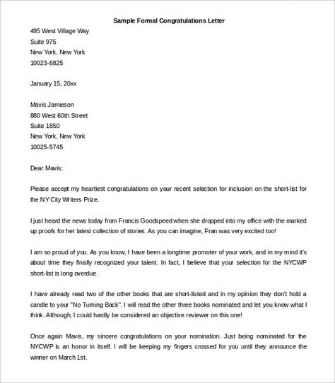Best Formal Letter Templates Free Sample Example Format How Write