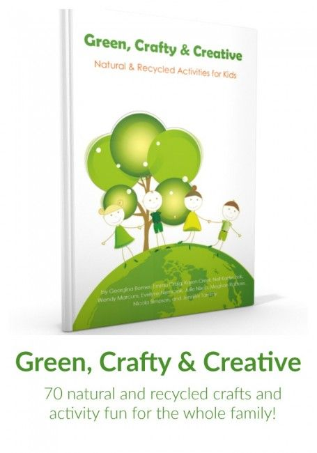 Don't miss our first book - available today!  Featuring 70 green crafts and activities with recyclables, as well as eco-friendly household tips.  Environmentally friendly fun for the whole family.