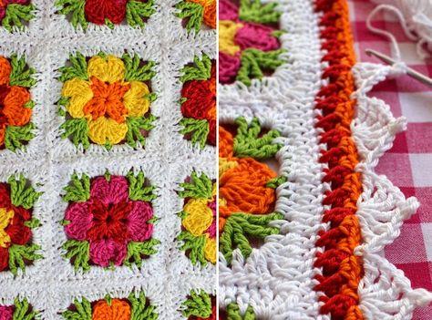 Kussen Pillow Cushion Kissen Granny Square Crochet Haken