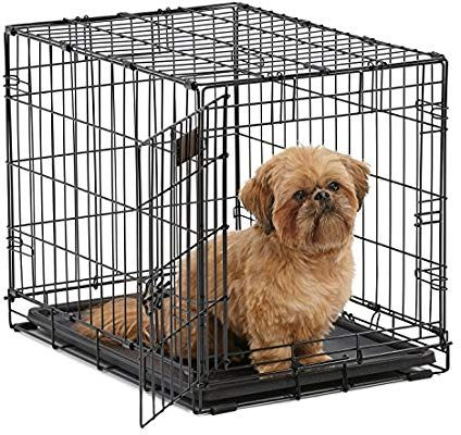 Amazon Com Dog Crate Midwest Icrate 24 Folding Metal Dog Crate W Divider Panel Floor Protecting Feet Leak With Images Small Dog Crate Large Dog Crate Puppy Crate