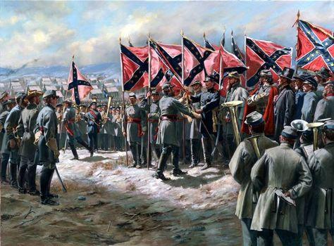 The First Battle Flags By Don Troiani It Depicts The Issuing Of The First Battle Flags To P G T Beauregard E Amerikanischer Burgerkrieg Burgerkrieg Bilder
