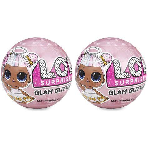 Glitter Series 2-Pack Limited Edition LOL Doll Figure Set CHOP L.O.L Surprise