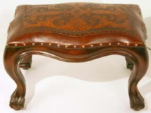 Leon Leather Stool Western Benches