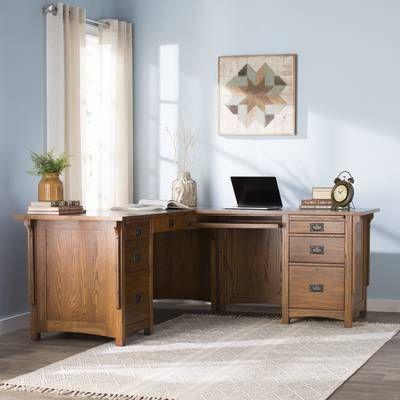 Larissa Solid Wood L Shape Executive Desk L Shaped Executive Desk Executive Desk Desk