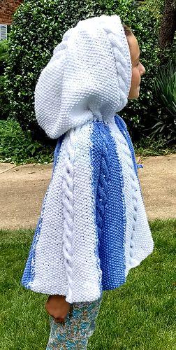The Nadia Poncho pattern by Maria Keffler | Child Poncho