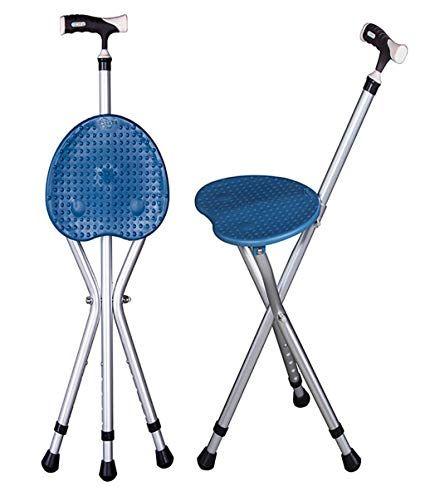 G M Walking Cane Seat Folding Walking Stick Tripod Spectator Seat For Men And Women Lightweight Travel Seat P Folding Cane Folding Walking Sticks Walking Canes