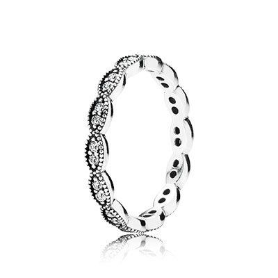 e0412f715 Pandora 190923CZ Sparkling Leaves Band Ring Size 56 *** Want additional  info? Click on the image.