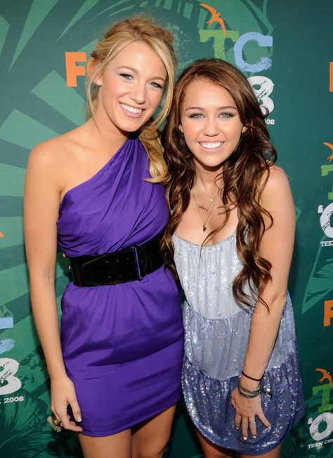 Pin for Later: A Look Back at the Best of the Teen Choice Awards  At the Teen Choice Awards in 2008, Blake Lively and Miley Cyrus were all smiles together on the red carpet.