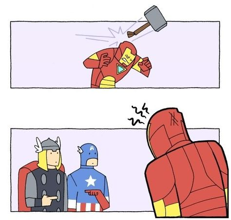 Funniest thing about this is that Captain America CAN actually pick up the hammer