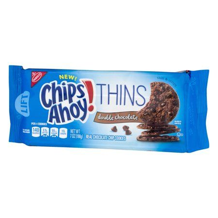 Nabisco Chips Ahoy Thins Double Chocolate Cookies 7 Oz Size 7