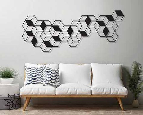 Geometric Wall Art Large Wall Art Metal Wall Art Minimalist