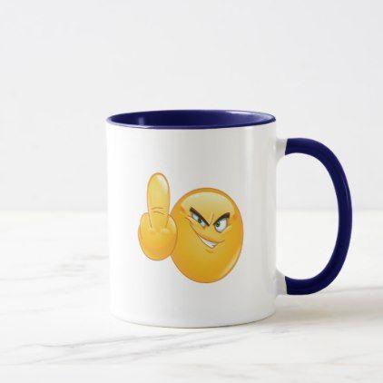 Emoji Shooting A Bird Two Tone 11oz Mug Coffee Custom Unique Special Mugs Emoji Two Tone