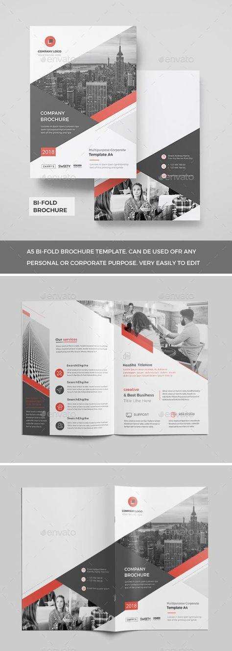 Corporate Bi-fold Brochure Template 09