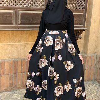 Pin By اللهم بالصالحين On Love Fashion Floral Skirt Skirts