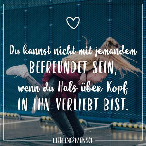 #lieblingsmensch #freundschaft #nachdenken #statements #tiefgrndig #befreundet #beziehung #jemandem #verliebt #familie #lustig #quotes #zitate #sprche #visualVisual Statements®️ Du kannst nicht mit jemandem befreundet sein, wenn du Hals über Kopf in ihn verliebt bist. Sprüche / Zitate / Quotes / Lieblingsmensch / Freundschaft / Beziehung / Liebe / Familie / tiefgründig / lustig / schön / nachdenkenVisual Statements®️ Du kannst nicht mit jemandem befreundet sein, wenn du Hals über K...