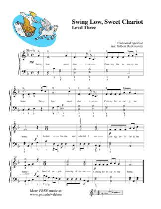 Swing Low Sweet Chariot By Kids Piano Sheet Music Sheetdownload