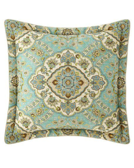Checked Country Manor European Sham, Sherry Kline Home Collection Country Manor Bedding