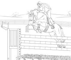 Hanovrian Show Jumping Lineart By Stableofares Horse Coloring Pages Horse Drawings Coloring Pages