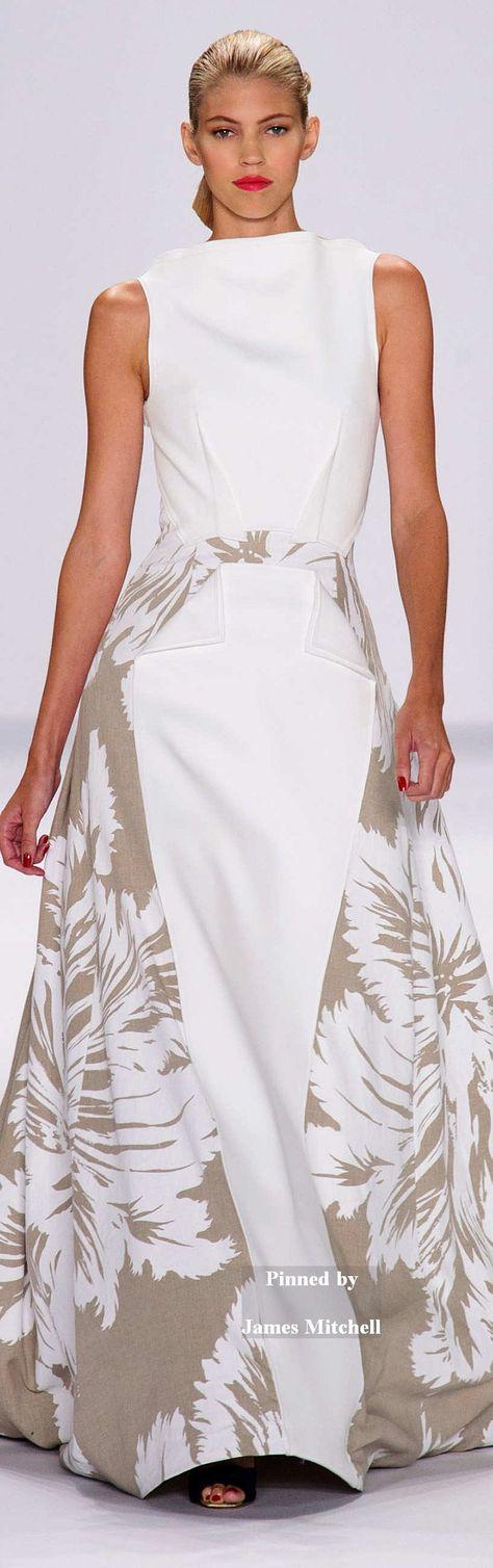 Glamour gowns / karen cox.  Carolina Herrera Collection Spring 2015 RTW