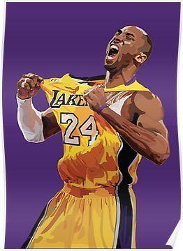 Kobe Bryant Jersey #24' Poster by hannahrey- | Kobe bryant poster ...