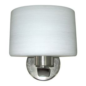 Portfolio Merington 8 In W 1 Light Brushed Nickel Arm Wall Sconce Ws147bnk Sconces Transitional Wall Sconces Wall Sconces
