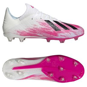 Adidas X 19 2 Fg Soccer Shoes Cloud White Shocking Pink Soccerevolution In 2020 Soccer Shoes Soccer Womens Soccer