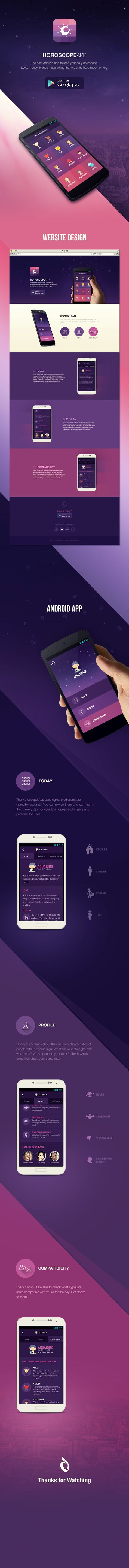 Horoscope App by Reznik Umar, designer from Bangalore, India, has worked on the UI design part of this project.