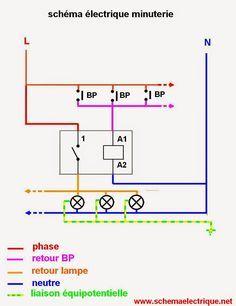 Schema Branchement Cablage Minuterie Projetos Eletricos Eletricidade Eletronicos