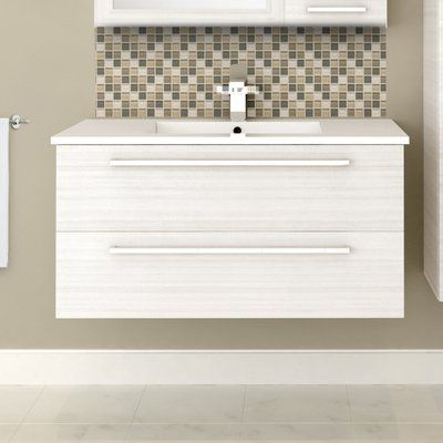 Cutler Kitchen And Bath Vanity Chalkboards Silhouette 36 Wall Mounted Single Bathroom Set Base Finish