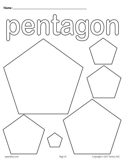 12 Shapes Coloring Pages Shape Coloring Pages Coloring Pages Pentagon