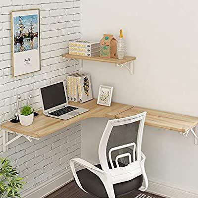 Amazon Com Sjysxm Floating Shelf Corner Computer Table Wall Table Folding Table L Shaped Table Wall Mounted In 2020 Wall Table Folding Floating Corner Desk Wall Table