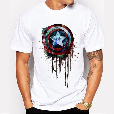 men Captain America's shield paint...