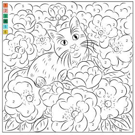 Nicole S Free Coloring Pages Color By Number Cat Roses Poppy Coloring Page Free Coloring Pages Fruit Coloring Pages