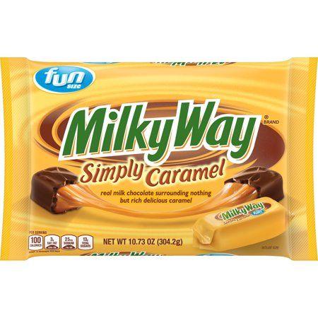Milky Way Simply Caramel Milk Chocolate Fun Size Candy Bars 10 73 Ounce Walmart Com Caramel Milk Chocolate Chocolate Milk Chocolate Candy Bar