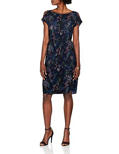 S Oliver Damen Kleid 05 806 82 7924 Blau Navy Tropical Aop 59b2 42 Dresses Fashion Formal Dresses