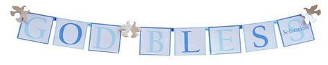 Baptism Dove Decorations - Personalized Christening or Baptism Banner with Doves or Doves on the ends and a photo in the center! by http://www.settocelebrate.com/dove-theme-baptism-communion-decorations-banners.html and on Etsy, $14.50