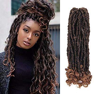 Amazon Com 6packs 14inch Goddess Faux Locs Soft Crochet Braids