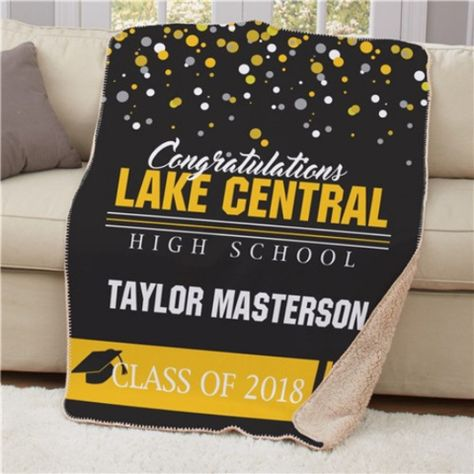 Free Personalized Throw Blanket Sherpa Graduation 2018 View More