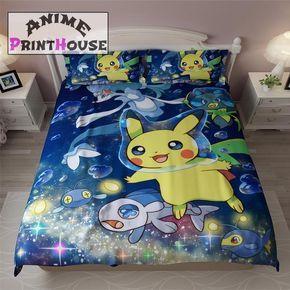 Pokemon Bedding Set Blanket Duvet Cover 30 Designs Pokemon