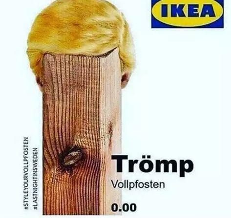 Irgendwer interessiert am #TrömpVollpfosten für 0,00 € bei #Ikea??? Lieferung portofrei, weil keiner ihn haben will.Wer hat einen Garten zum Aufstellen??? (Ich nicht) @_klingebiel @Christa29930995 @nic_von_rosalux @Fuxinchen @MischaKaefer @heuteshowpic.twitter.com/aMHPqYpFBN