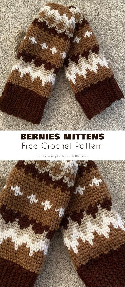 Crochet Mittens Pattern, Crochet Gloves, Knit Or Crochet, Crochet Gifts, Crochet Scarves, Crochet Hooks, Free Crochet, Knitting Patterns, Crochet Patterns