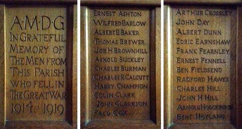 Barnsley War Memorials Project: Penistone, Memorial Lady Chapel, St John's Church, Penistone