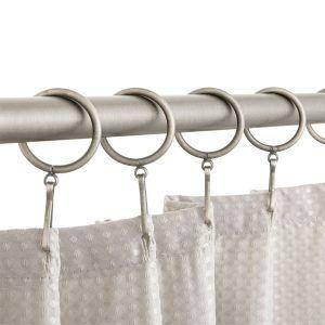 Flamingo Chrome Shower Curtain Hooks Large Shower Curtains Teak