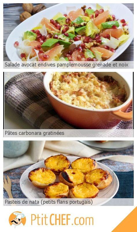 Menu Du Jour Vendredi 3 Janvier Ptitchef Recette Cuisine